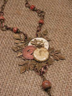 mixed media jewelry | Upcycled Jewelry Mixed Media Assemblage ... | Jewelry Artisans I Ad…