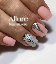 nail-art AKA Дизайн ногтей. Уроки маникюр. Colorful Nail Designs, Short Nail Designs, Beautiful Nail Designs, Pretty Short Nails, Pretty Nails, Nail Polish Designs, Nail Art Designs, Nails Design, Classic Nails