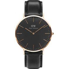 32ce0e4e549 Daniel Wellington DW00100127 Classic Black Sheffield 40mm Watch Wellington  Watches