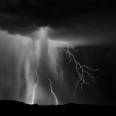 Lightning and rain in New Mexico