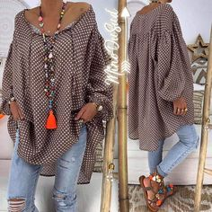 I like this traje de lot. Huge cocoa color blouse and colorido collar and s. Funky Fashion, Fashion Over 50, Boho Fashion, Fashion Outfits, Womens Fashion, Fashion Tips, Fashion Trends, Estilo Hippie, Looks Plus Size