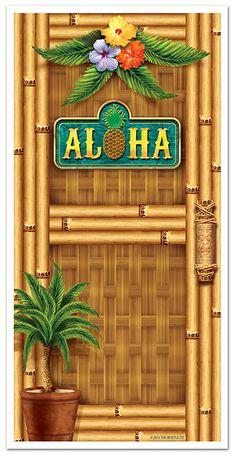Décoration de porte Hawaï : Deguise-toi, achat de Decoration / Animation