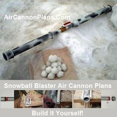 Build It Yourself SB Snowball Blaster Air Cannon Plans. Air Cannon, Tractor Implements, Steel Barrel, Big Chill, Snowball Fight, How To Make Snow, Winter Time, Seasonal Decor, Ebooks