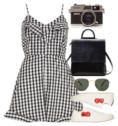 Untitled #6167 by rachellouisewilliamson on Polyvore featuring polyvore, fashion, style, River Island, Play Comme des Garçons, Ray-Ban and clothing
