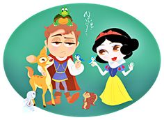 Snow-White-and-Prince-Ferdinand-Chibi-prince-and-snow-white-31625879-900-657.png (900×657)