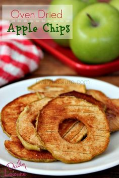Oven-Dried-Apple-Chips are so easy to make and a healthy snack option.