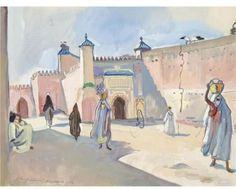 Street in Marrakech.  1932, Zinaida Serebriakova