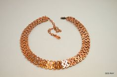 Renoir Matisse Signed Vintage Copper Necklace by VictoryIssweet