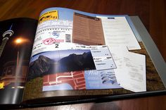 scan ticket stubs, airline tickets, menus, maps, brochures and receipts to add to album