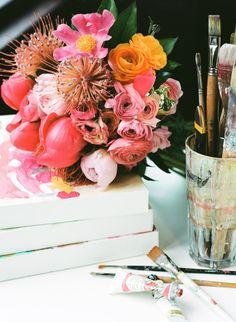 paint + flowers