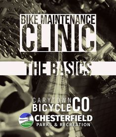 Chesterfield Parks & Rec is back at our Southside store tonight with all the knowledge and tools you need to understand bike maintenance basics. Parks N Rec, Parks And Recreation, Bike Components, Chesterfield, Free Time, Clinic, Knowledge, Bicycle, Free Space