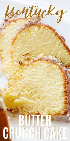 perfect buttery pound cake with the most delicate crumb is topped with a pecan butter glaze. perfect buttery pound cake with the most delicate crumb is topped with a pecan butter glaze. Mini Desserts, Just Desserts, Delicious Desserts, Dessert Recipes, Gourmet Desserts, Plated Desserts, Dessert Cake Recipes, Bon Dessert, Oreo Dessert