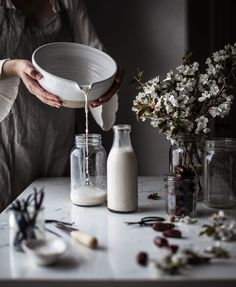 Pour yourself a glass of Homemade Almond Milk