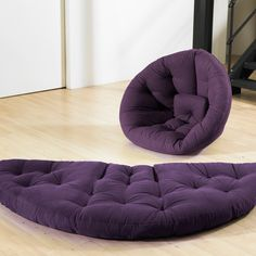 "Fab.com | Nido Futon 72"" Purple.  Overnight sleeping and a chair."