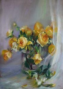 Hope Springs Eternal by Mary Aslin Pastel ~ 23 x 16.5