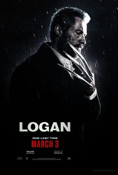 Here's a poster for the movie Logan, coming in 2017.