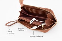 The Power Wallet: Gorgeous clutch with a built-in battery pack for your phone. Need!