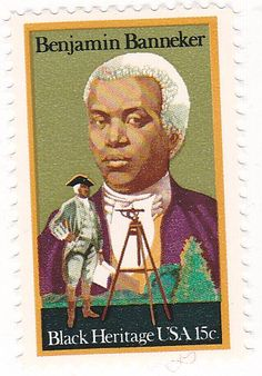 1980 U.S. 15c Stamp Benjamin Banneker Issue, Scott1804 * This is an Amazon Affiliate link. Want additional info? Click on the image.