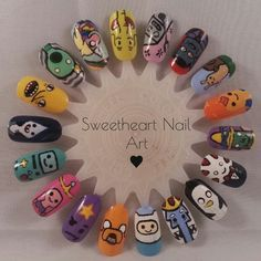 Adventure Time nail art wheel