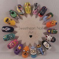 Adventure Time nail art wheel