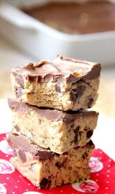 My Happy Place: peanut butter chocolate chip cookie dough bars