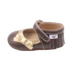 Mary Jane Moccasins - Brown Gold