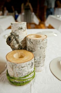 Table decor nature inspired candle holders