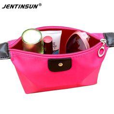 Multi-colors Nylon Woman Cosmetic Bag Simple Storage Bag Fashion Lady Travel Cosmetic Pouch Bags Portable Makeup Organizer Bag