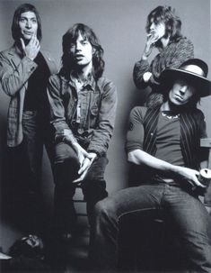 rollingstoned: CHARLIE WATTS, MICK JAGGER, MICK TAYLOR et KEITH RICHARDS