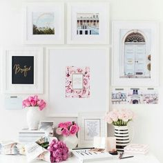 {home office inspiration} / pink / girly / interior decor / decoration / office / desk Home Office Design, Home Office Decor, House Design, Home Decor, Office Set, Office Ideas, Pink Office, Office Inspo, White Office