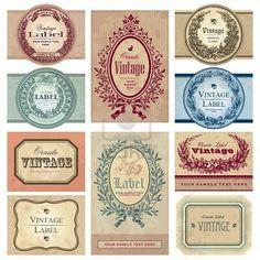 vintage labels #printable