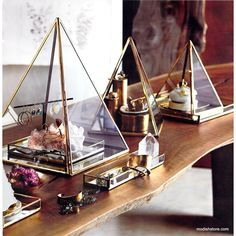 Roost Brass Pyramid Display Boxes
