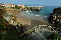 Playa de Puertu Chicu. Llanes, Concejo de Llanes. Principado de Asturias. Spain.   {By Valentin Enrique].