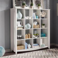 Bush Aero Collection 16 Cube Bookcase / Room Divider - Pure White - Bookcases at Hayneedle