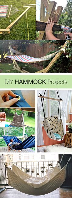DIY Hammocks • Projects and Tutorials via The Garden Glove