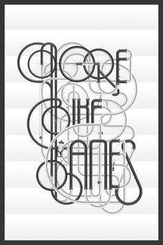 More Bike Lanes – Art Print by Jérôme Berthemet