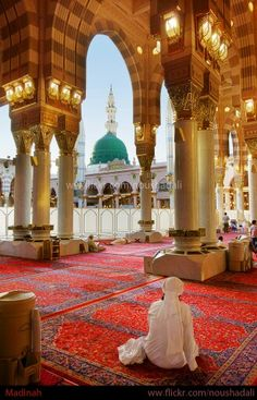 ☪ Al-Masjid an-Nabawī (Arabic: المسجد النبوي), also called the Prophet's Mosque, is a mosque established and originally built by the Islamic prophet Muhammad, situated in the city of Medina. Al-Masjid an-Nabawi was the second mosque built in the history of Islam and is now one of the largest mosques in the world. It is the second-holiest site in Islam, after al-Masjid al-Haram. It is the final resting place of the Islamic Prophet Muhammad (pbuh). #hadith #hadeeth #quran #coran #koran #kuran…