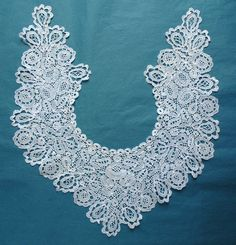Pretty Antique Vintage Honiton Lace Dress Front Collar | eBay