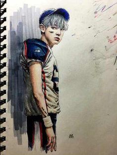 Image via We Heart It https://weheartit.com/entry/180776980/via/15787565 #exo #fanart #comeback #exok #exom #chanyeol #parkchanyeol #lovemeright