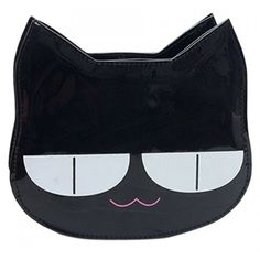 Cute Cat Shape and Color Block Design Women's Crossbody Bag ($12) ❤ liked on Polyvore featuring bags, handbags, shoulder bags, crossbody shoulder bags, color block handbag, crossbody purse, blue purse and cat handbag