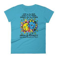 Women's Solar Eclipse Short Sleeve T-Shirt - Tarzan & Jane - Live Love Dance Path of Totality August 21, 2017