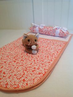 American Girl Doll Sleeping Bag and Pet by TheBattyQuilter on Etsy, $20.00