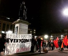 From an antifascist demo at Glasgow's George Square, November 5th, 2017