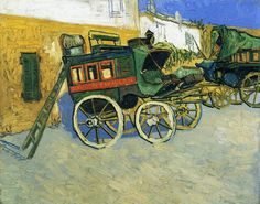 The Tarascon Diligence  - Vincent van Gogh  - 1888 - Note: Diligence by definition is a name for a  public stagecoach, this one ran between Arles and Tarascon, Provence about 20 km.
