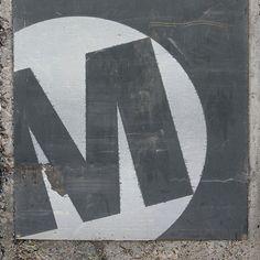 Graphic Design  Calligraphic Letter M