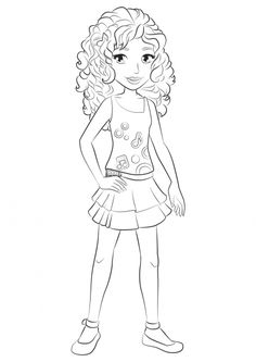 Print This Lego Friends Coloring Sheet Lego Coloring Pages Lego