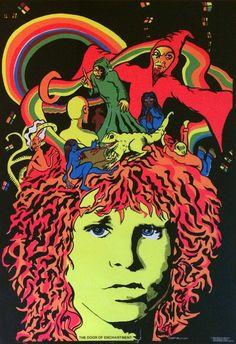 Jim Morrison Black Light Poster