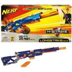 Becuase sometimes I am a big kid :),Nerf Nerf N-Strike Longstrike CS-6: Amazon.co.uk: Toys & Games