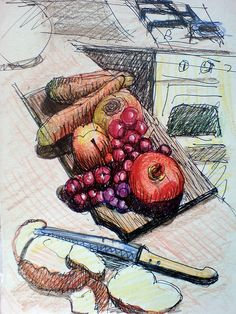 I was cutting up some fruit to squeeze some fresh juice and woala- had to stop to make this drawing - it looked so good! The taste of the juice is less exiting, since the grapes from our wines has lost quite a bit of moisture since they've been harve Improve Your Way of Life Radically just by Grabbing my $77 Reward for Free NOW!