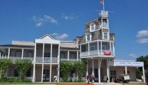 The old Nimitz Hotel in Fredericksburg.  It didn't look so unusual when I was a child visiting my Oma and Opa nearby.